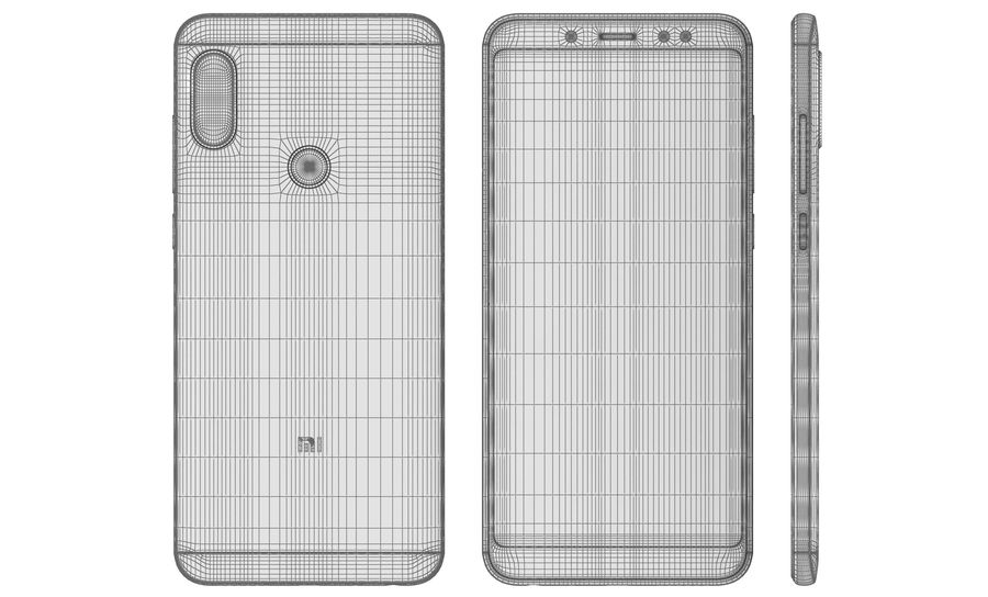 Xiaomi Redmi Note 5 Black royalty-free 3d model - Preview no. 17