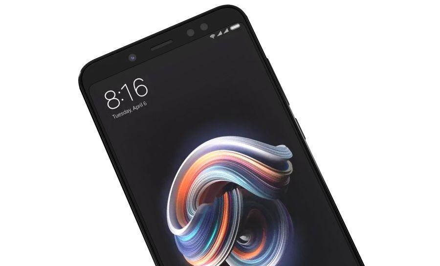 Xiaomi Redmi Note 5 Black royalty-free 3d model - Preview no. 15