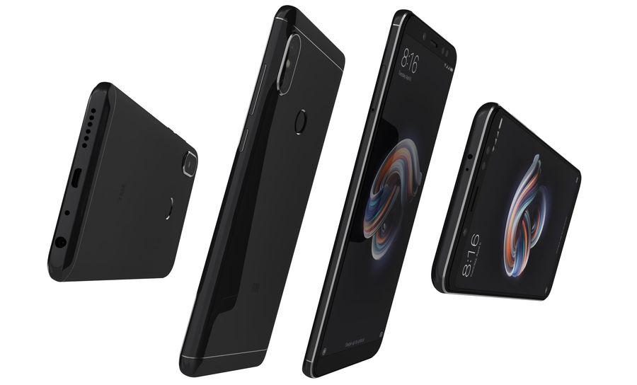 Xiaomi Redmi Note 5 Black royalty-free 3d model - Preview no. 12
