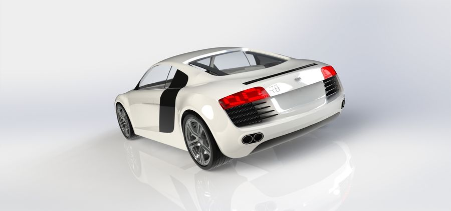 SPORCAR R8 royalty-free 3d model - Preview no. 5