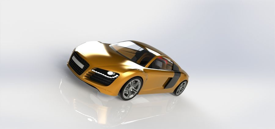 SPORCAR R8 royalty-free 3d model - Preview no. 4
