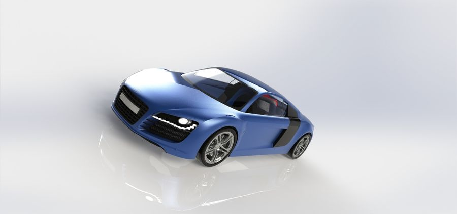 SPORTSCAR R8 royalty-free 3d model - Preview no. 2