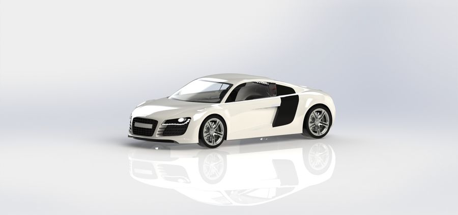 SPORTSCAR R8 royalty-free 3d model - Preview no. 1