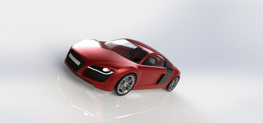 SPORCAR R8 royalty-free 3d model - Preview no. 3