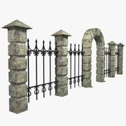 Clôture de pierre 3d model