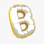 Balloon letter B 3d model