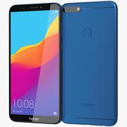 Honor 7C Blue 3d model