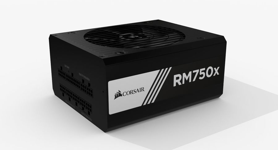 Corsair RM750x royalty-free 3d model - Preview no. 4
