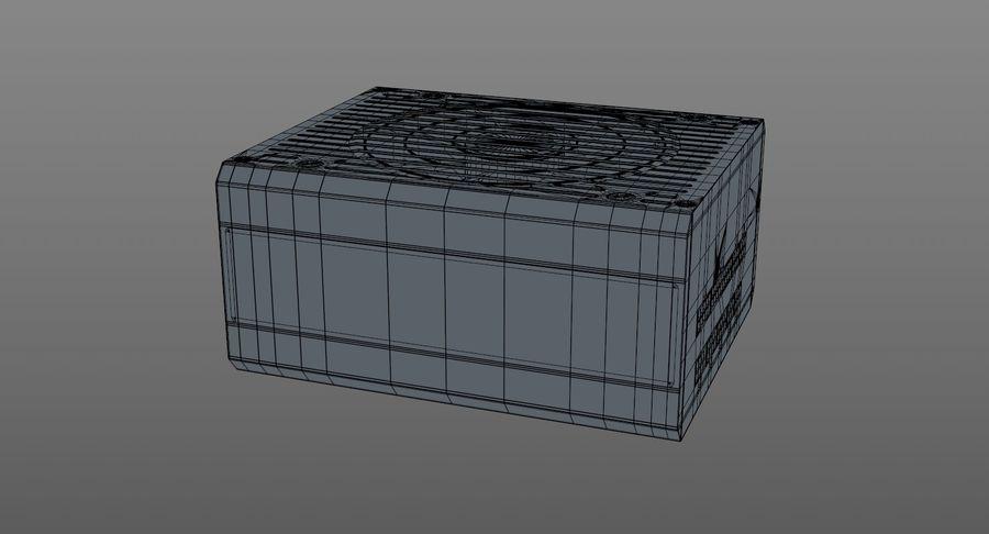 Corsair RM750x royalty-free 3d model - Preview no. 11