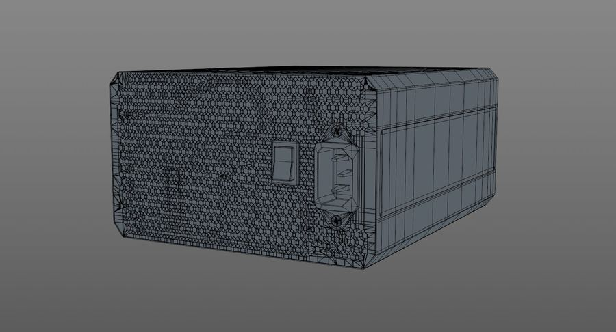 Corsair RM750x royalty-free 3d model - Preview no. 12
