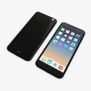 Nero generico del telefono mobile 3d model