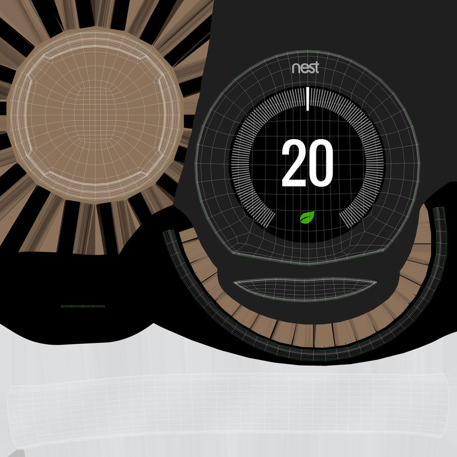 Gniazdo termostatu royalty-free 3d model - Preview no. 9