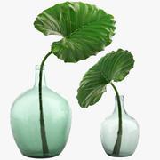 타로 잎 3d model
