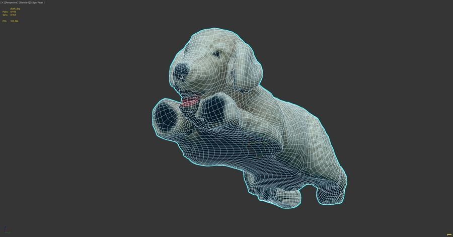 Doldurulmuş Köpek royalty-free 3d model - Preview no. 16