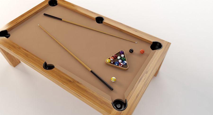 Precision Pool matbord royalty-free 3d model - Preview no. 3