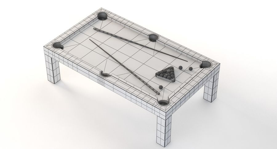 Precision Pool matbord royalty-free 3d model - Preview no. 12