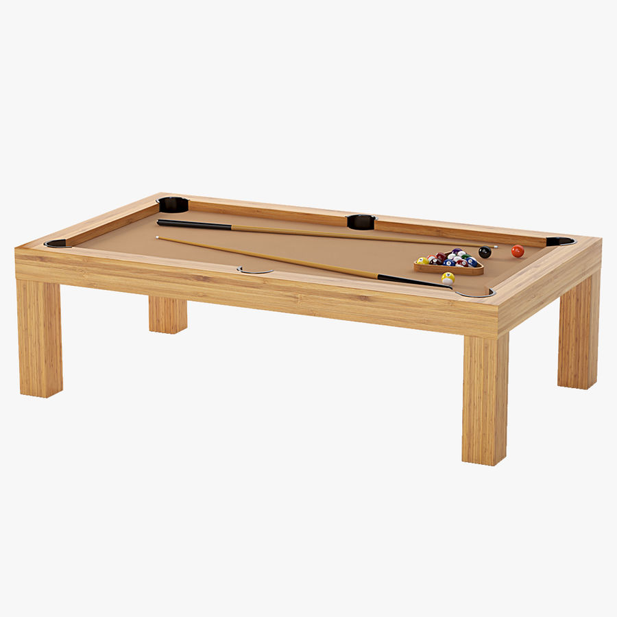 Precision Pool matbord royalty-free 3d model - Preview no. 1