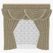 Classical Curtains 3d model