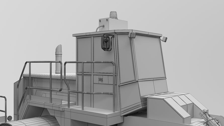 Construction Truck royalty-free 3d model - Preview no. 16