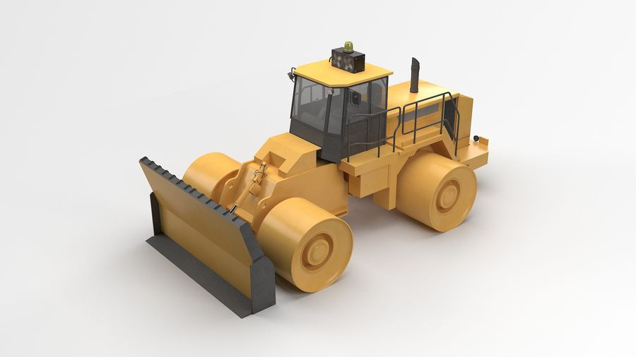 Construction Truck royalty-free 3d model - Preview no. 2