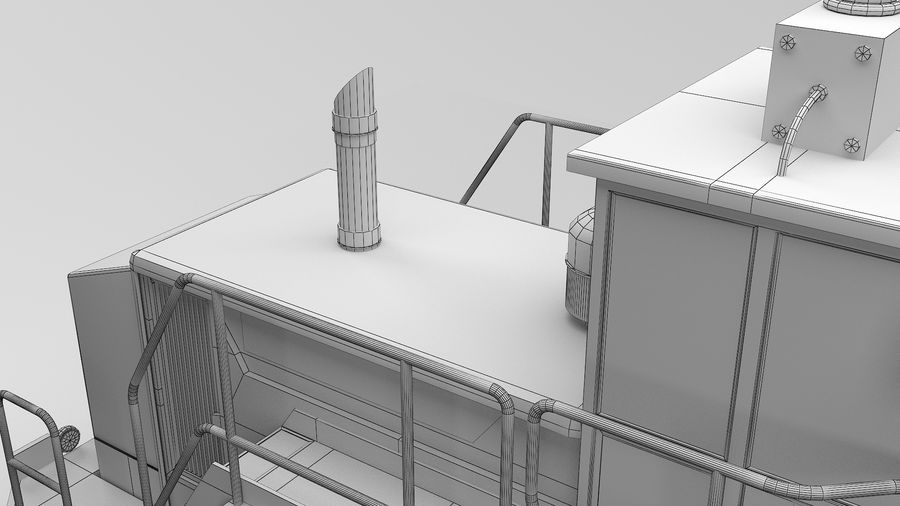 Construction Truck royalty-free 3d model - Preview no. 17