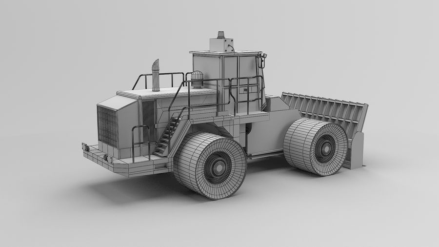 Construction Truck royalty-free 3d model - Preview no. 13