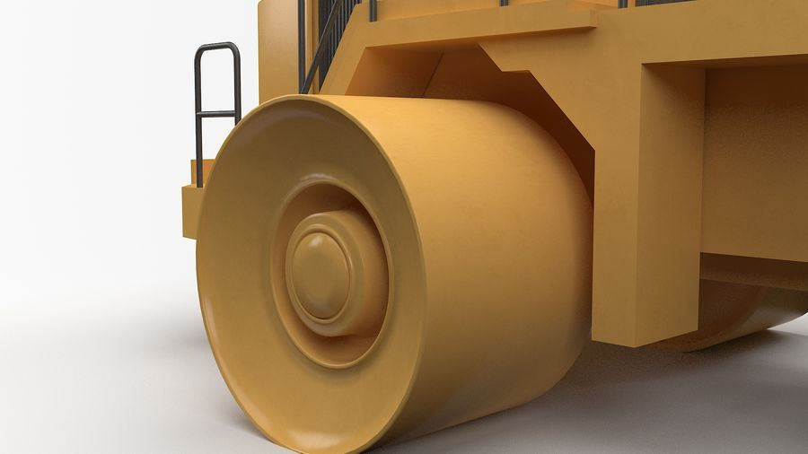Construction Truck royalty-free 3d model - Preview no. 5