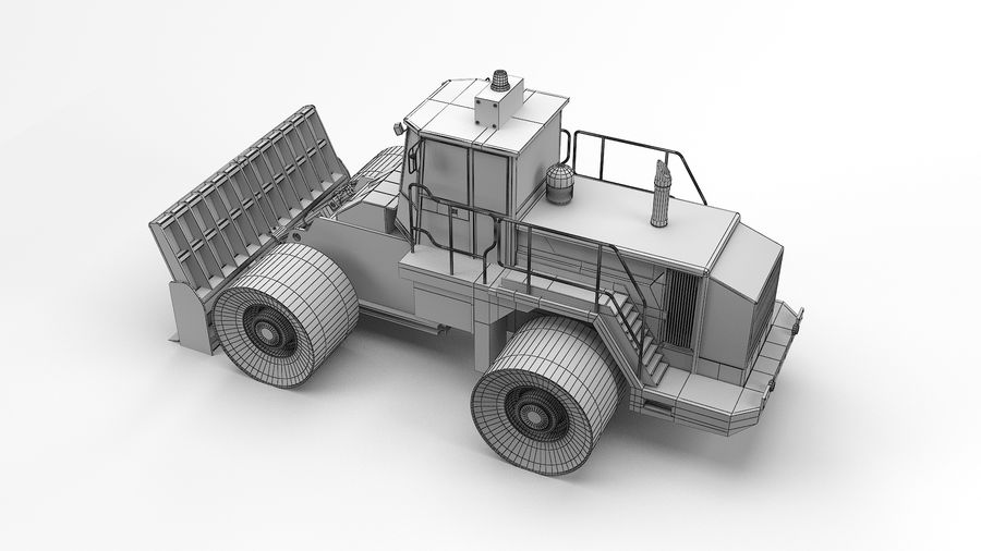 Construction Truck royalty-free 3d model - Preview no. 12