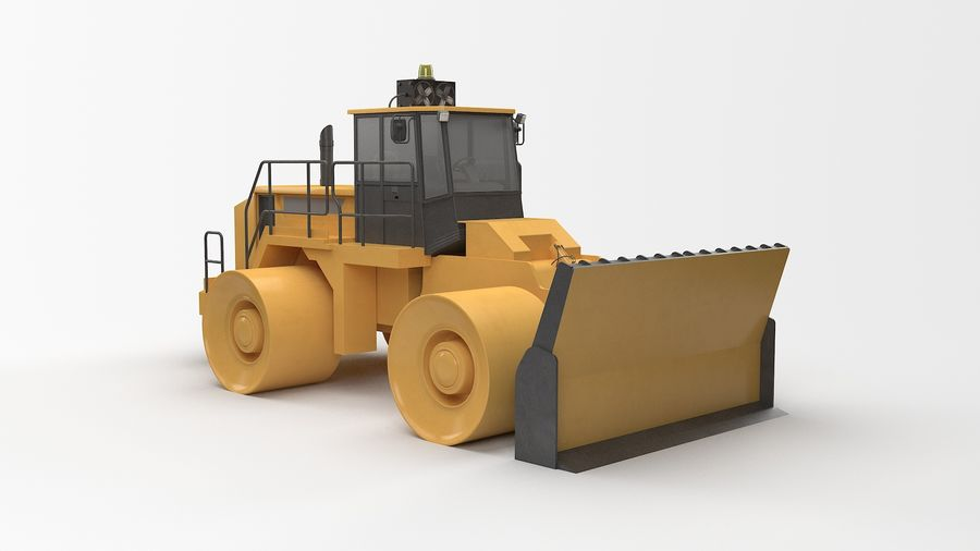 Construction Truck royalty-free 3d model - Preview no. 1