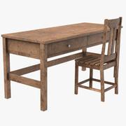 Stary stół 3d model