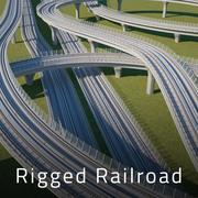 Железнодорожный путь 3d model