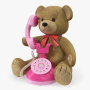 Oyuncak Telefon 3D Model ile Teddy Bear 3d model