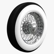 老爷车车轮 3d model