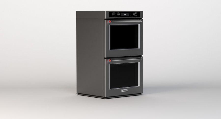 Kitchenaid Detail Photorealistic 30 Double Wall Oven Kode500ebs 3d Model 49 Max Obj Fbx 3ds Free3d