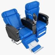 First Class Airplane Chair 10 3d model