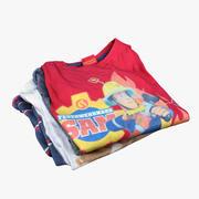 Hög med barnkläder 03 3d model