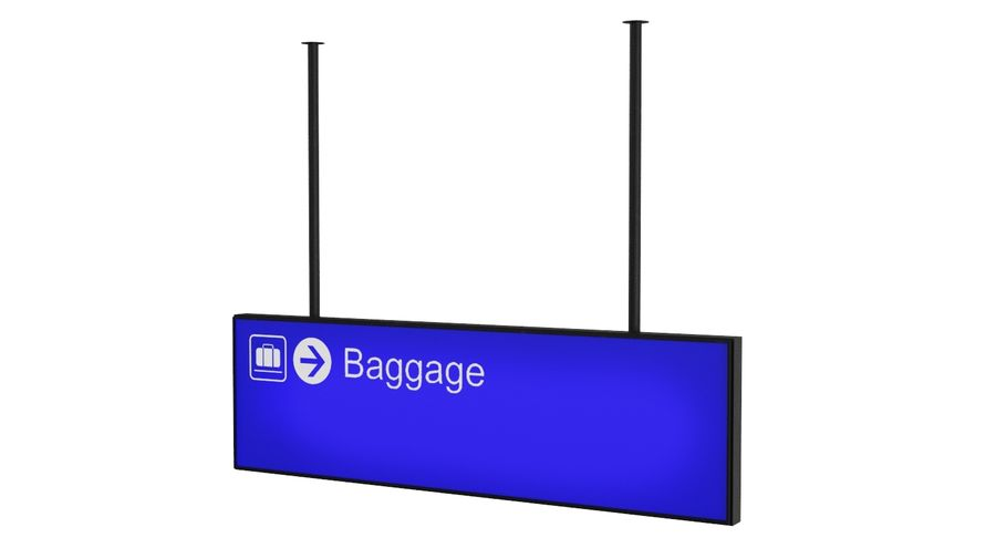 Airport Signs royalty-free 3d model - Preview no. 8