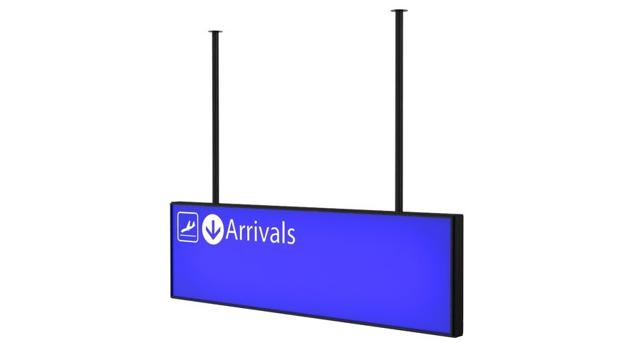 Airport Signs royalty-free 3d model - Preview no. 4
