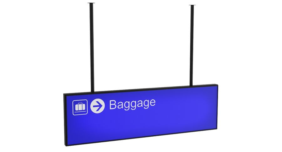 Airport Signs royalty-free 3d model - Preview no. 7