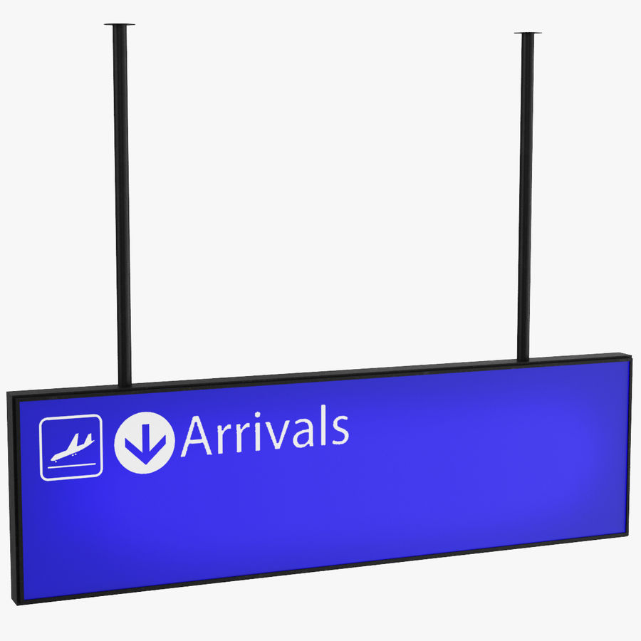 Airport Signs royalty-free 3d model - Preview no. 3
