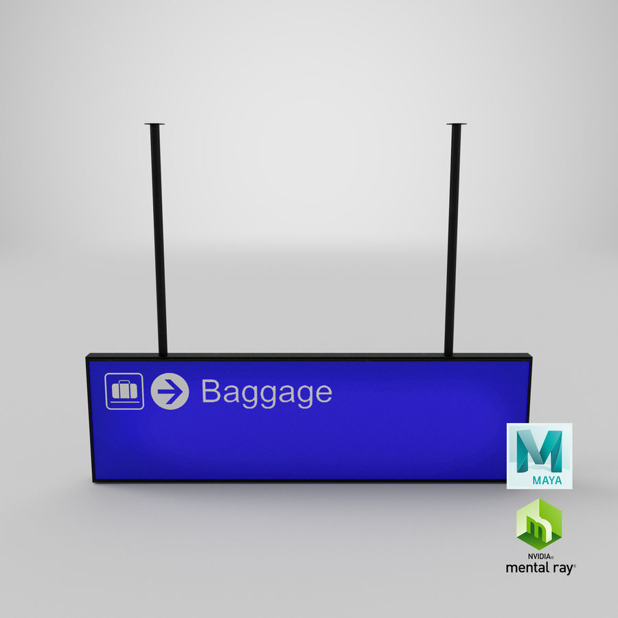 Airport Signs royalty-free 3d model - Preview no. 18