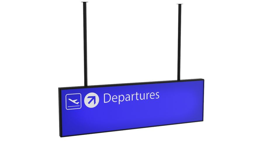 Airport Signs royalty-free 3d model - Preview no. 5