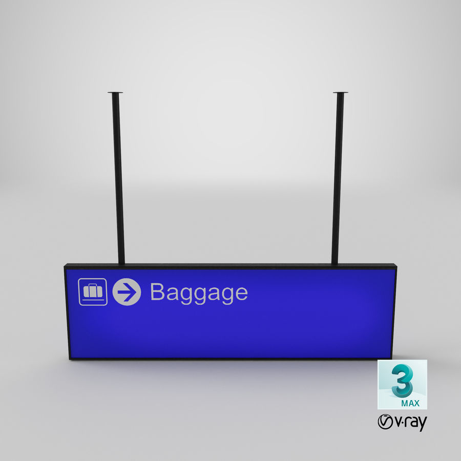 Airport Signs royalty-free 3d model - Preview no. 19