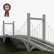 Most wiszący 3d model