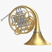 Dubbel fransk horn 3d model