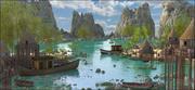 ベトナム諸島の風景 3d model