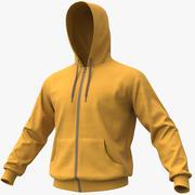 Hoodie 01 Yellow + PBR 3d model