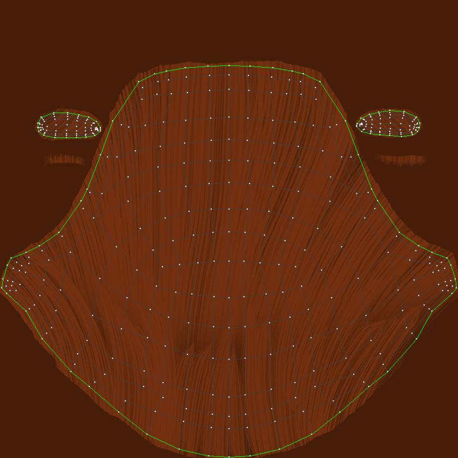 Coiffures Polygonales royalty-free 3d model - Preview no. 29