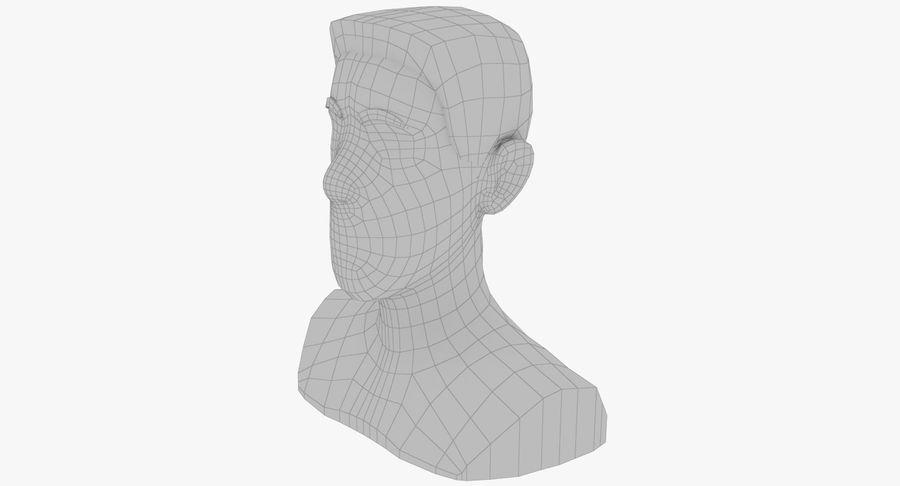 Coiffures Polygonales royalty-free 3d model - Preview no. 27