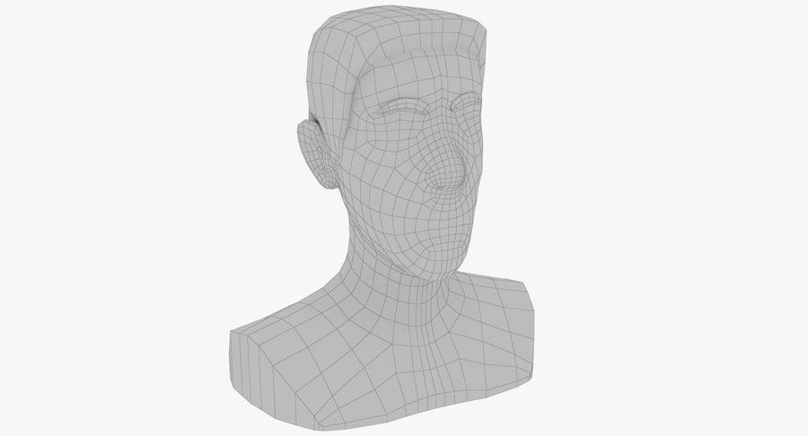 Coiffures Polygonales royalty-free 3d model - Preview no. 26